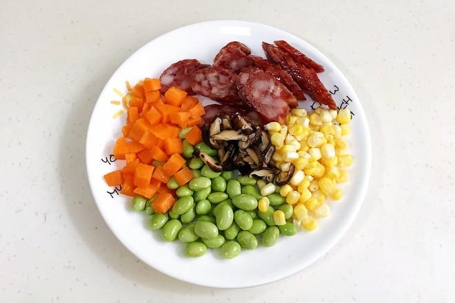 腊肠时蔬焖饭的做法图解