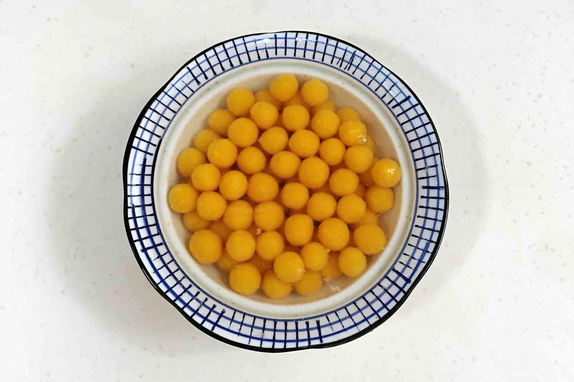 姜汁玫瑰红糖南瓜圆子怎么煮