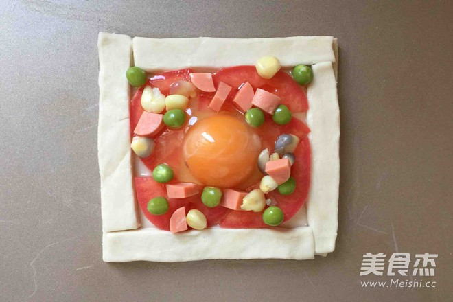 飞饼蔬菜鸡蛋挞的家常做法