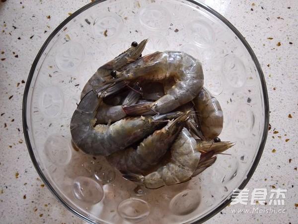黑椒烤虾的做法图解