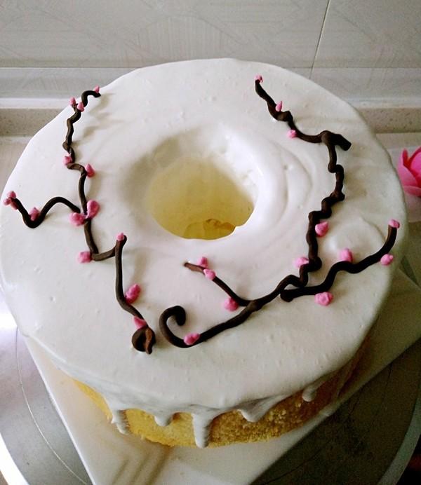 巧克力花淋面蛋糕的制作