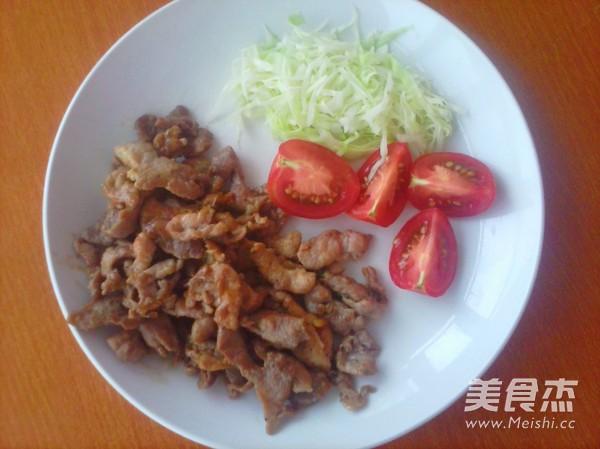 生姜味猪肉成品图