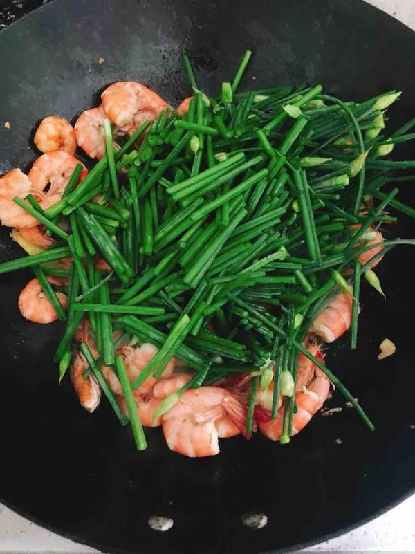 韭菜苔烧海虾怎么炒