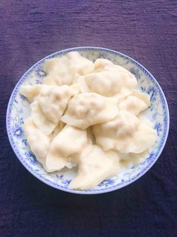 玉米猪肉饺子成品图