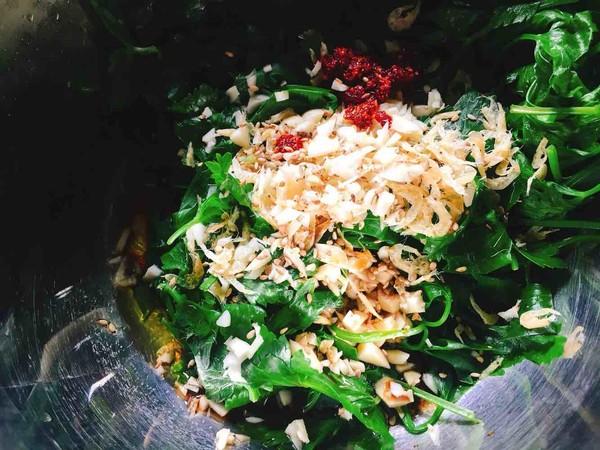 虾皮凉拌芹菜叶的简单做法