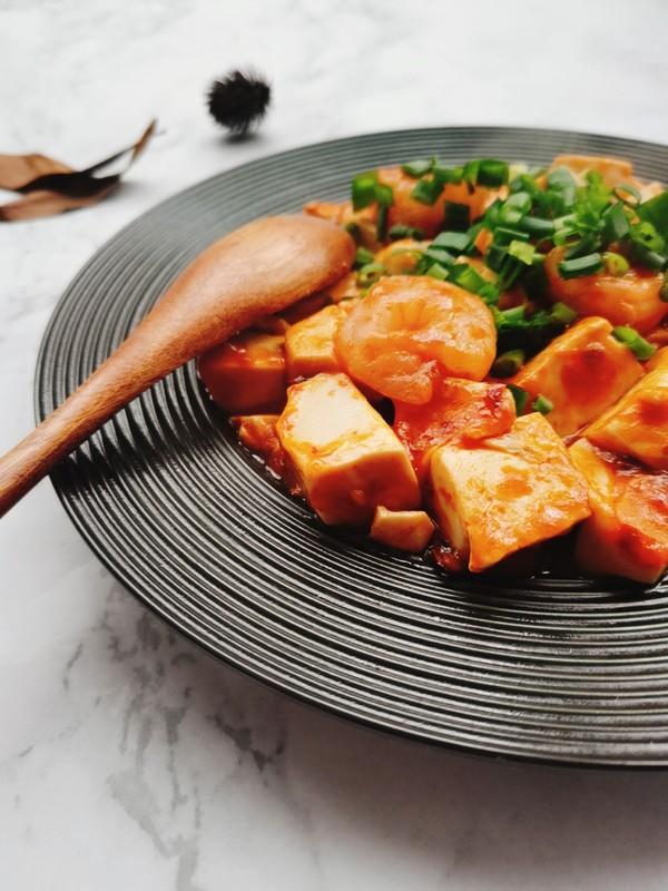 虾仁豆腐成品图
