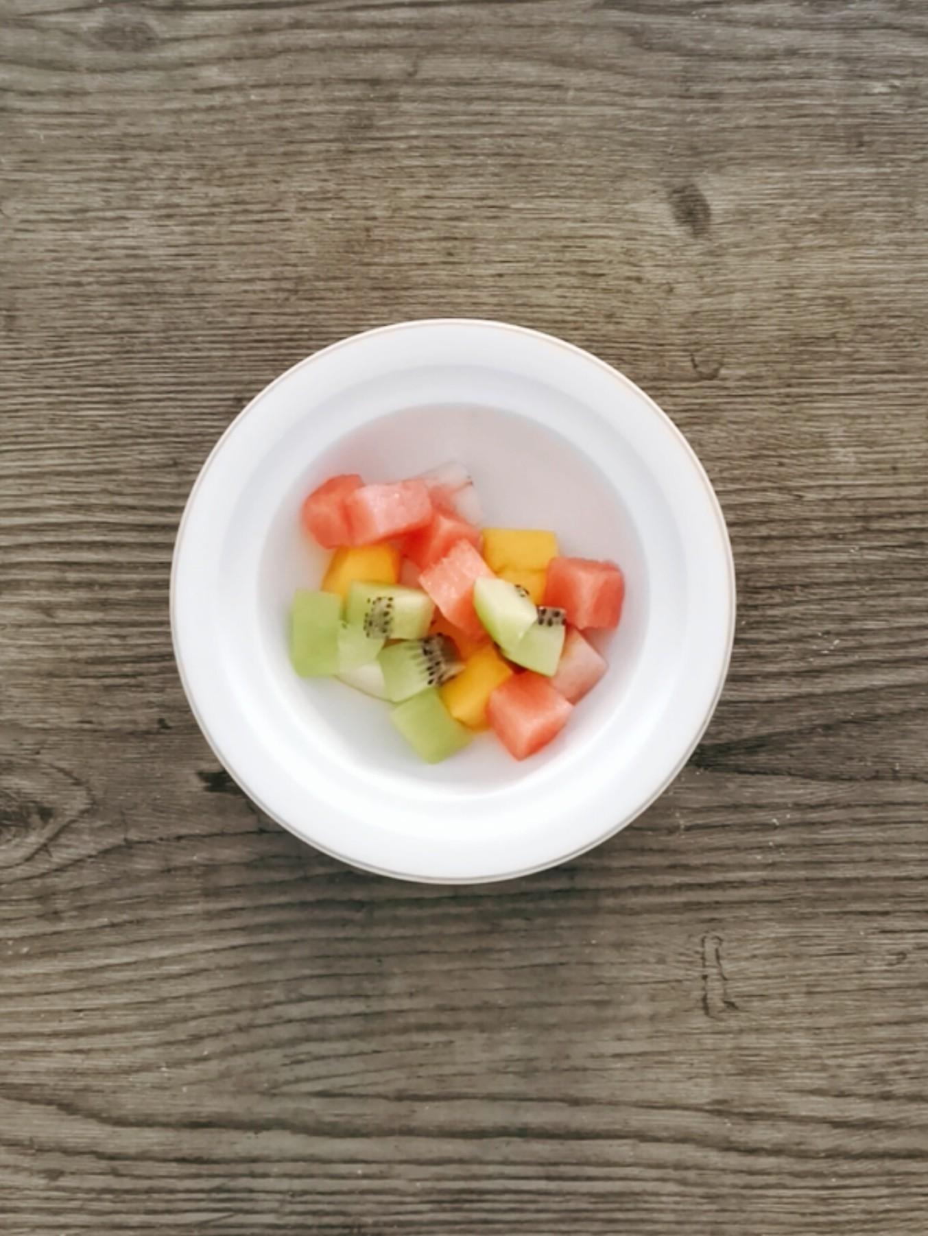 牛奶百合水果捞怎么做