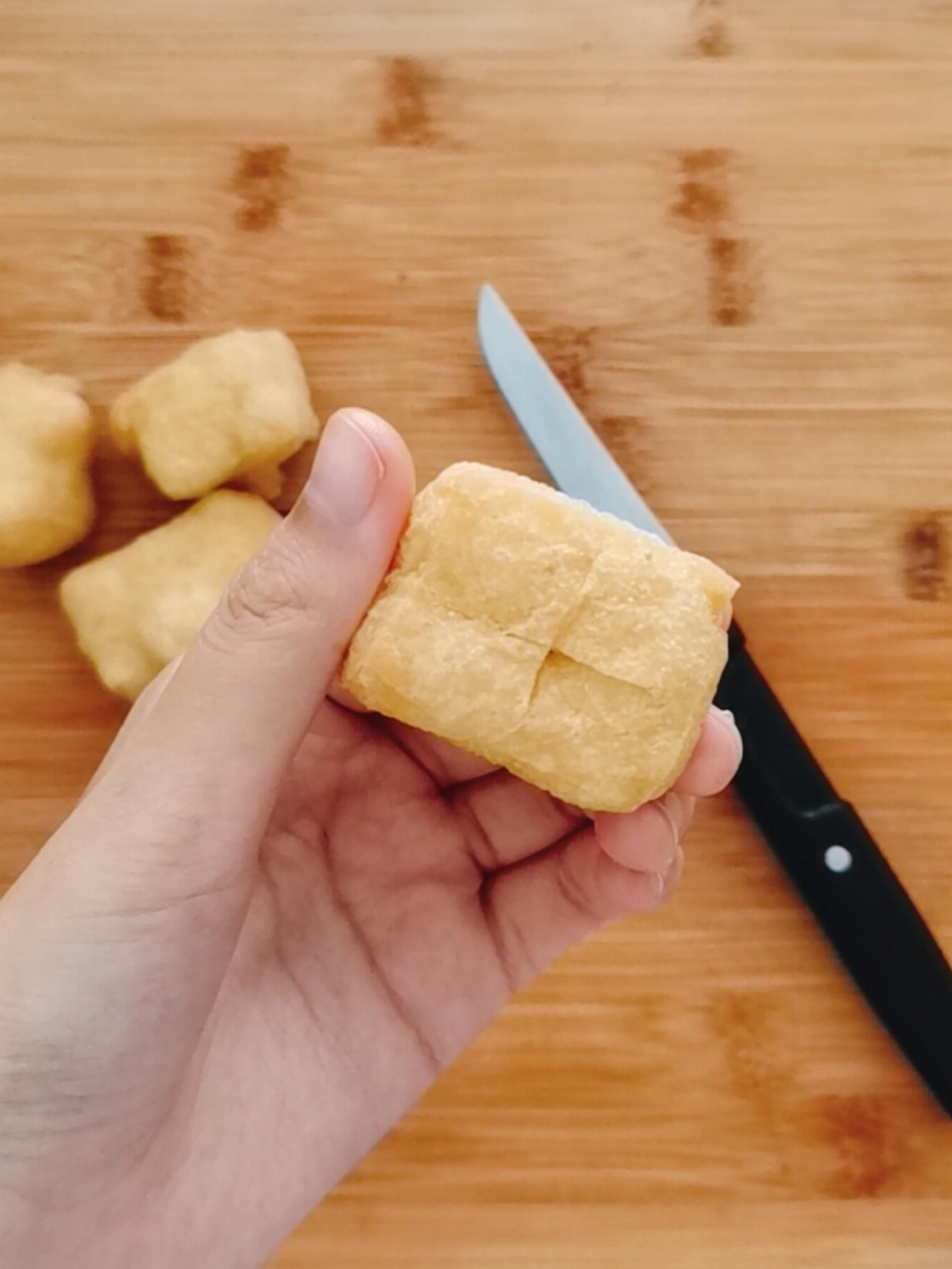 油豆腐酿米丸子的家常做法