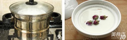 玫瑰花胶炖牛奶怎么吃