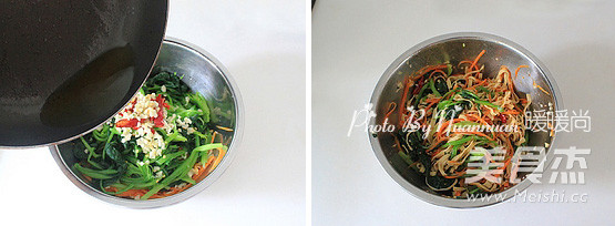 菠菜拌豆皮的简单做法