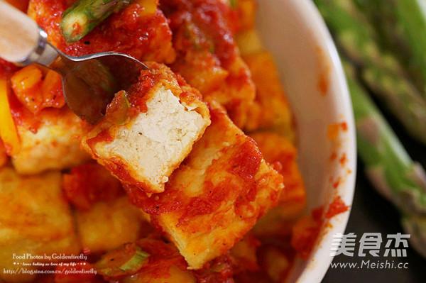 酱淋香脆豆腐成品图