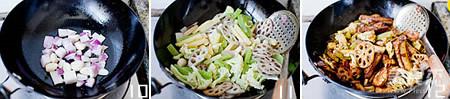 干锅排骨虾的步骤