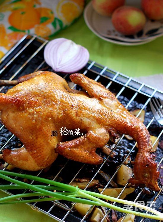 香酥烤鸡成品图
