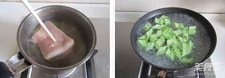 苦瓜回锅肉的步骤