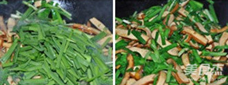 韭菜炒豆干的简单做法