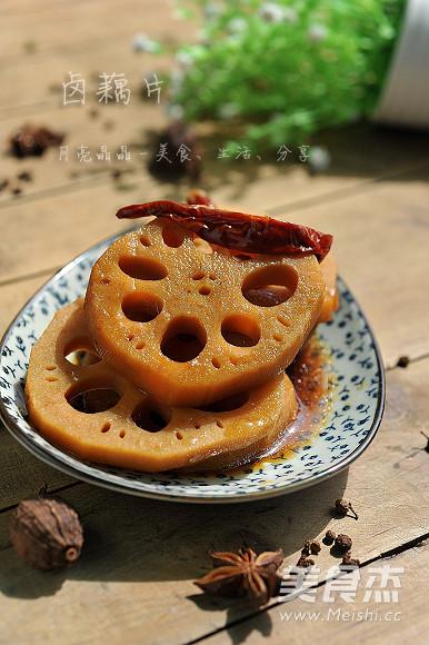 卤藕片成品图
