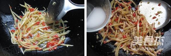 泡姜鱼香肉丝的步骤