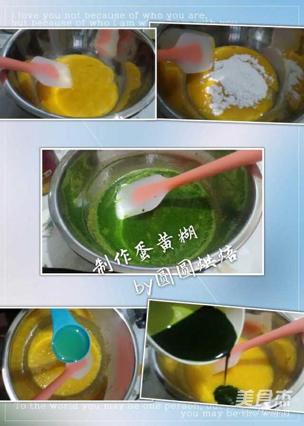菠菜汁戚风蛋糕的家常做法