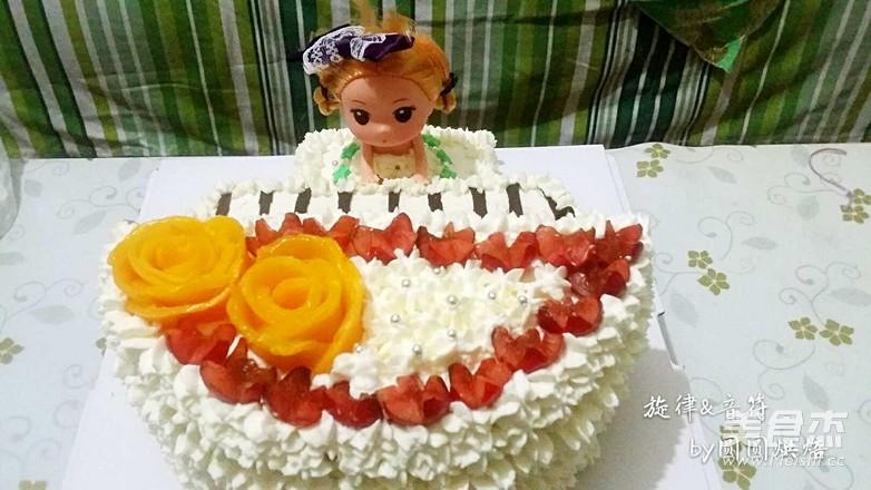 旋律音符·生日蛋糕成品图