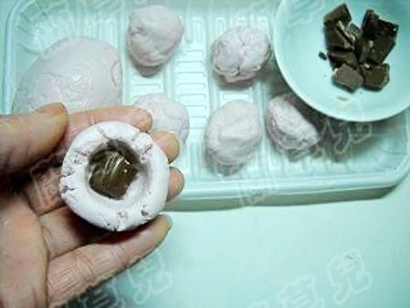 丝滑巧克力汤圆的步骤