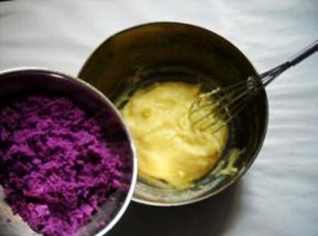 紫薯卡仕达泡芙的制作