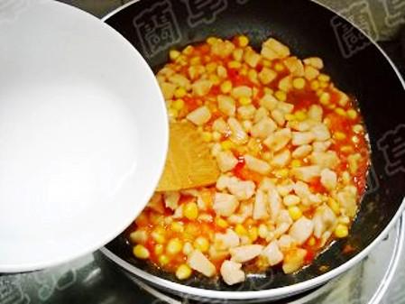 茄汁玉米鸡丁怎么炖