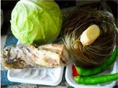 腊肉包菜炖薯粉的做法大全