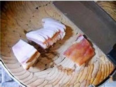 腊肉包菜炖薯粉的做法图解