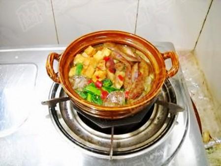 咖喱豆腐炖茄子的制作