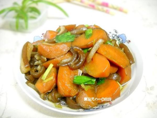 胡萝卜炖猪皮怎样炒