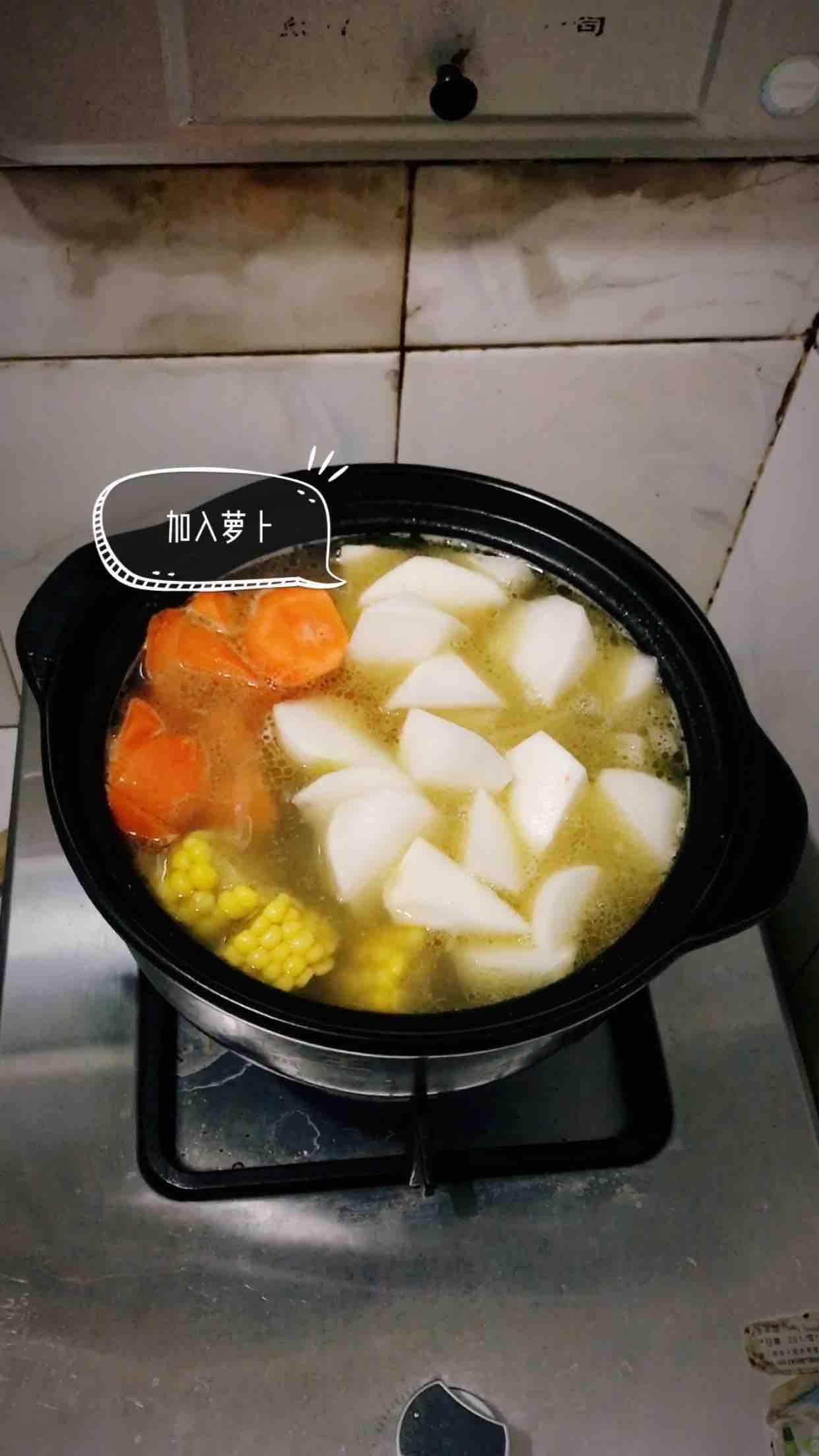 萝卜玉米羊肉汤怎么煸