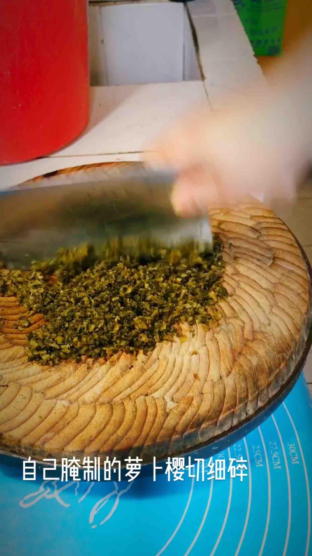 腌菜鲜肉柳叶包的步骤