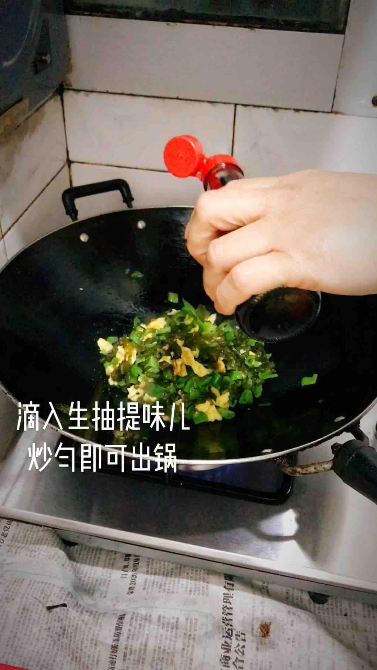 地皮菜炒鸡蛋的步骤