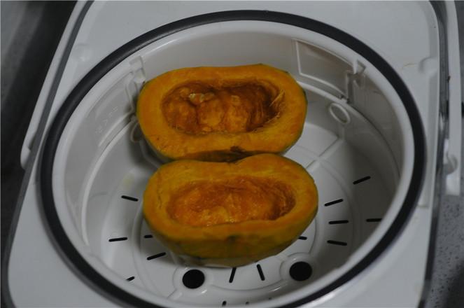 南瓜红豆芝麻斑纹土司的做法图解