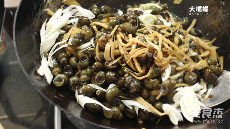 紫苏炒石螺丨大嘴螺怎样煸