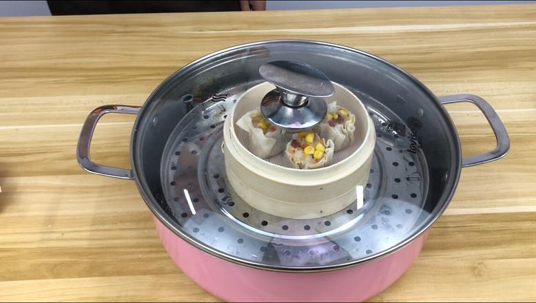饺子皮咸蛋黄烧麦怎么煮