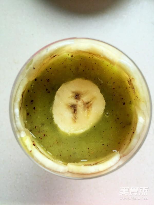 创意猕猴桃汁香蕉拼杯怎么煮