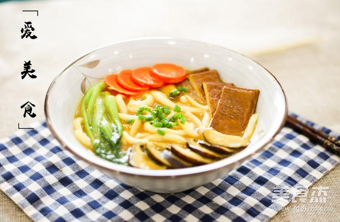 日式咖喱乌冬面怎么吃