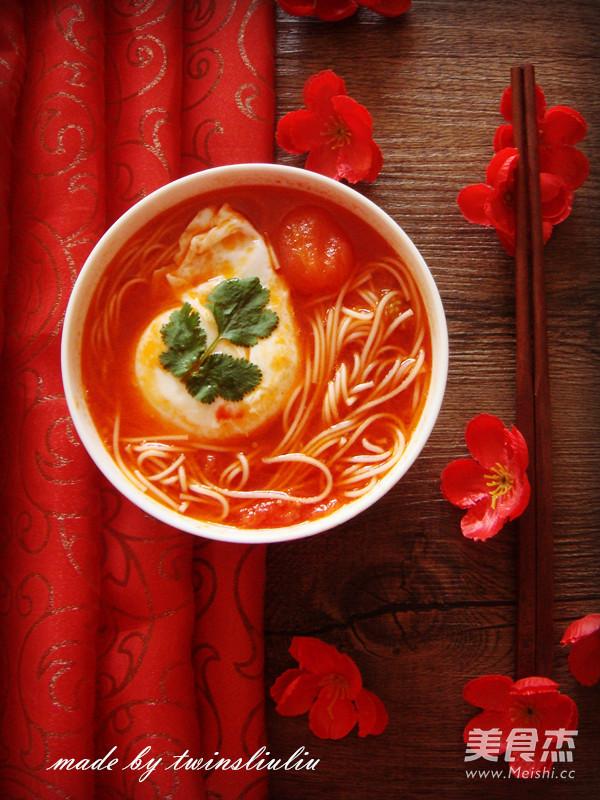 西红杮鸡蛋龙须面汤怎么煮