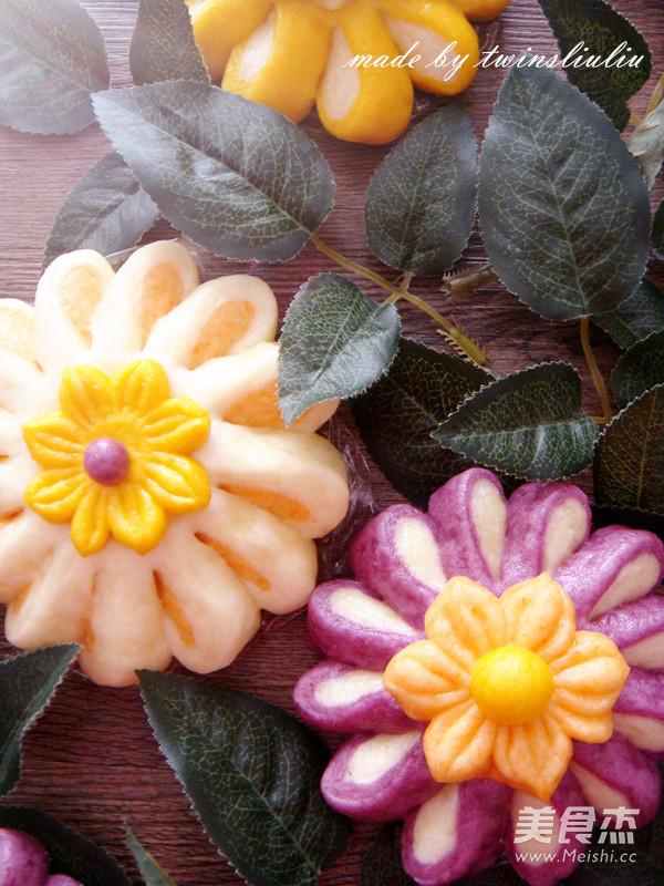 花样面食之花朵馒头的做法大全