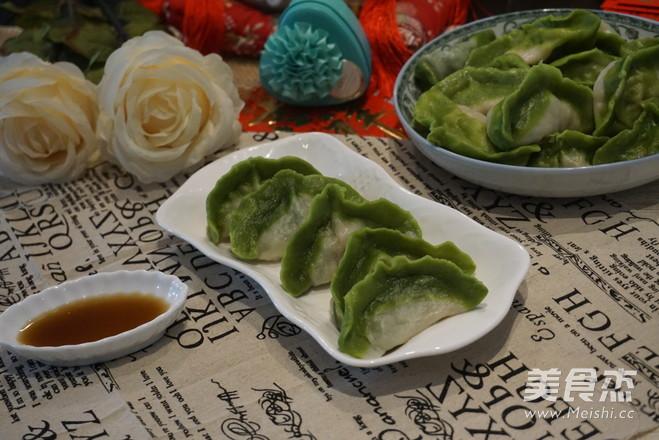 翡翠玉饺的制作