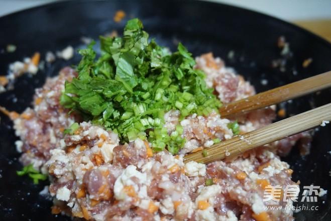 香菜豆腐肉饼的简单做法