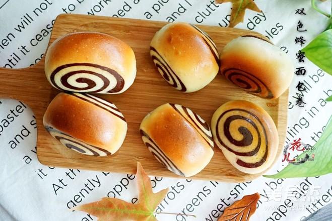 双色蜂蜜面包的步骤