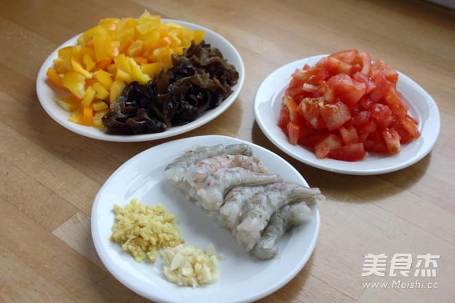 木耳甜椒茄汁大虾的做法图解