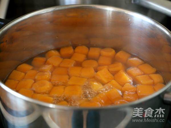 红薯圆红豆汤的步骤