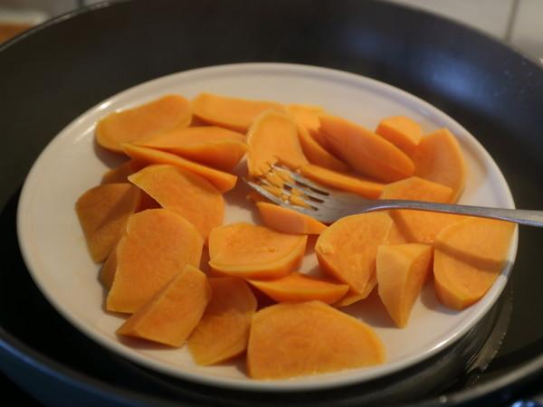 蜜红豆红薯圆西米露的做法图解