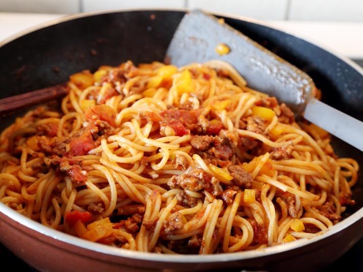牛肉番茄酱意大利面的简单做法
