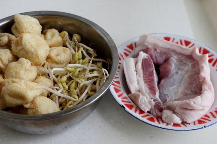 豆芽豆腐果烧五花肉的做法大全