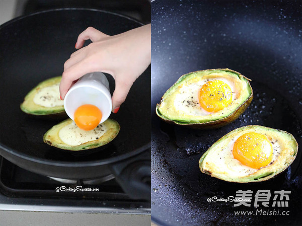 鱼子酱牛油果煎鸡蛋怎么做