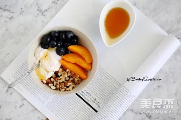苹果汁早餐燕麦粥成品图